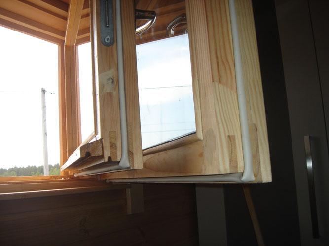 Створка утеплённого по шведской технологии деревянного окна