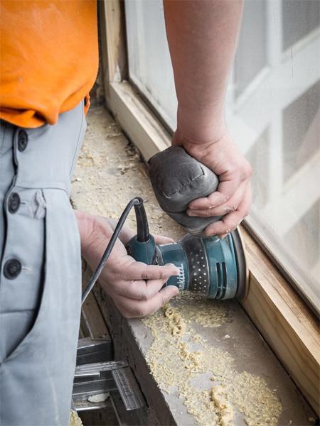 Ремонт и утепление окон по шведской технологии с покраской на дому