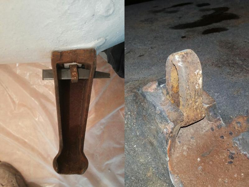 Способ крепления ножки для старинной чугунной ванны № 5