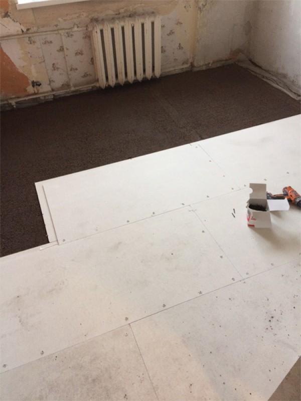 Ремонт и замена пола в квартире шумоизоляция цена на